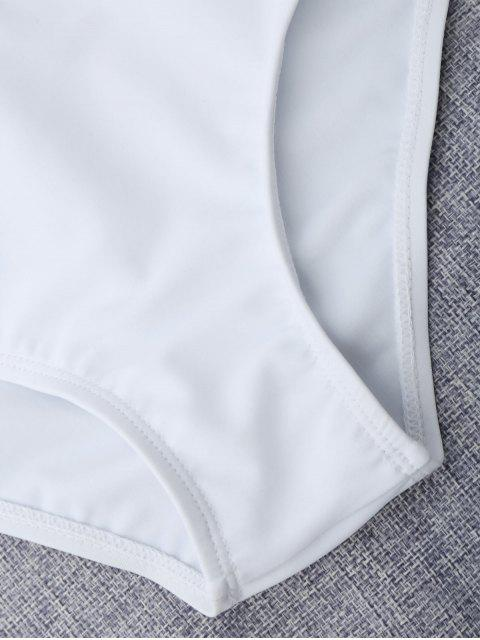 women Layered Off The Shoulder Girls Bikini Set - WHITE 8T Mobile