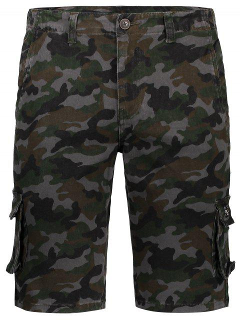 affordable Men Camo Cargo Shorts - CAMOUFLAGE 38 Mobile