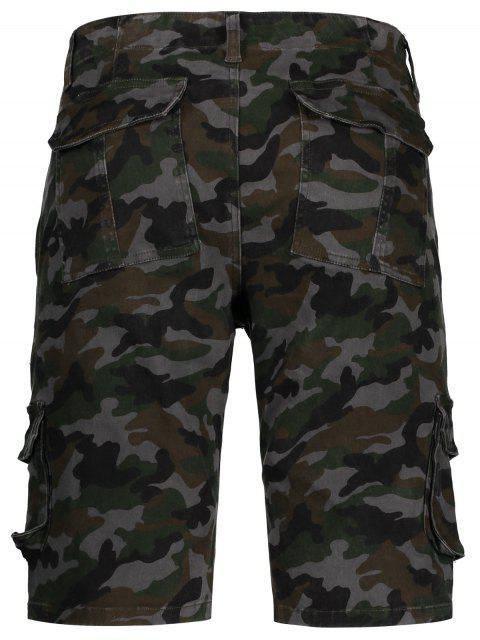 affordable Men Camo Cargo Shorts - CAMOUFLAGE 38 Mobile