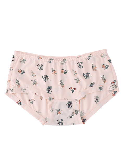 ladies Women Tiny Floral Briefs - PINK ONE SIZE Mobile