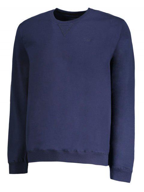 chic Mens Crew Neck Sweatshirt - PURPLISH BLUE 2XL Mobile