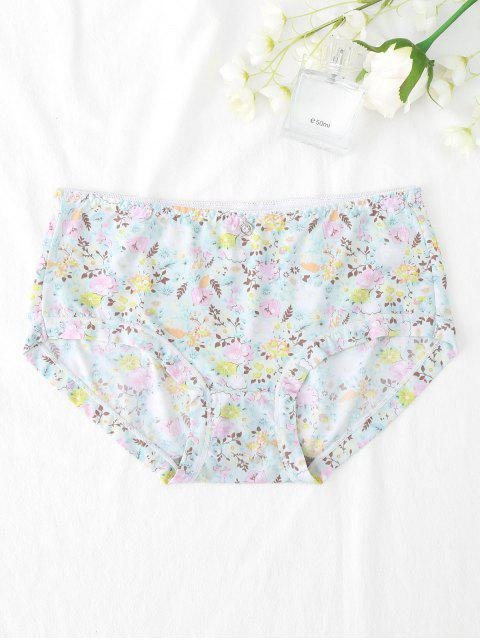 women Smooth Hipster Tiny Floral Panties - LIGHT GREEN XL Mobile