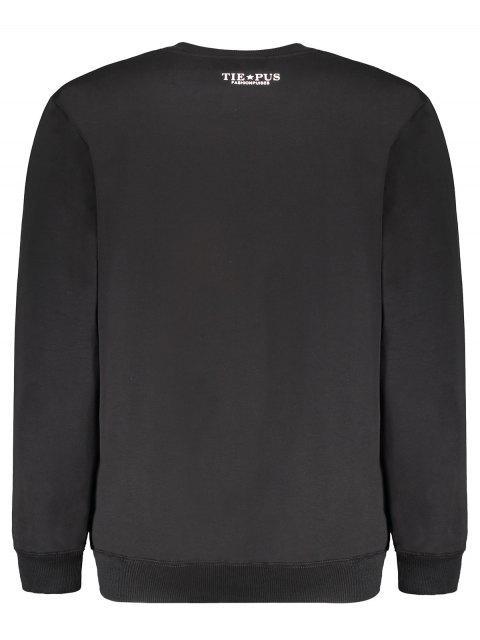 online Graphic Crew Neck Sweatshirt - BLACK L Mobile