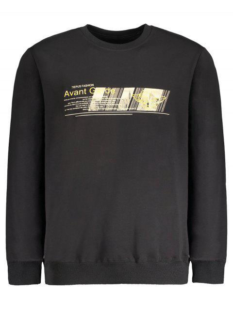 hot Graphic Crew Neck Sweatshirt - BLACK M Mobile
