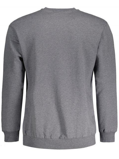 women's Crew Neck Camel Graphic Sweatshirt - DEEP GRAY L Mobile