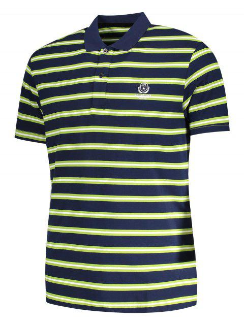 new Striped Polo Shirt - GRASS GREEN XL Mobile