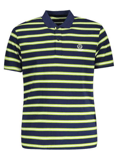 outfit Striped Polo Shirt - GRASS GREEN L Mobile