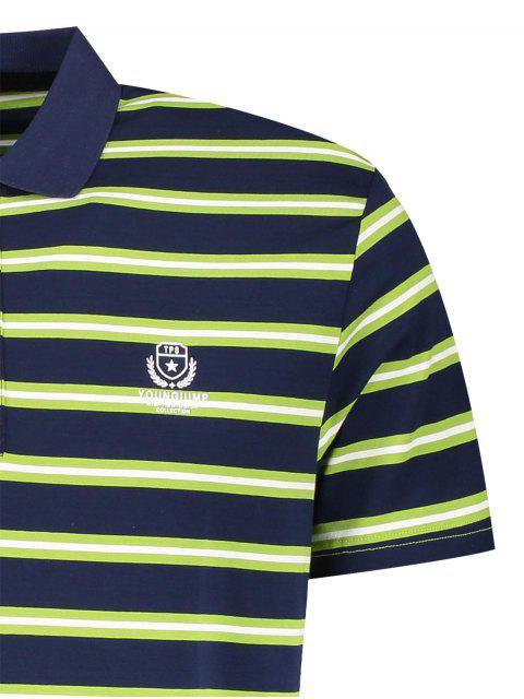 Polo à rayures - Herbe Verte M Mobile