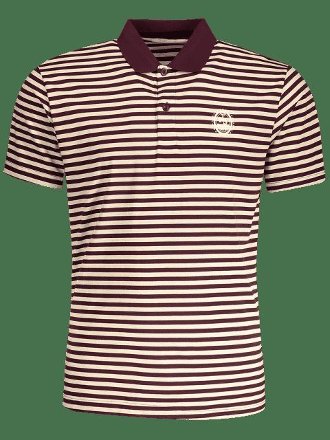 affordable Striped Polo T-shirt - STRIPE 2XL Mobile
