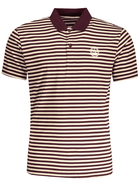 women Striped Polo T-shirt - STRIPE M Mobile