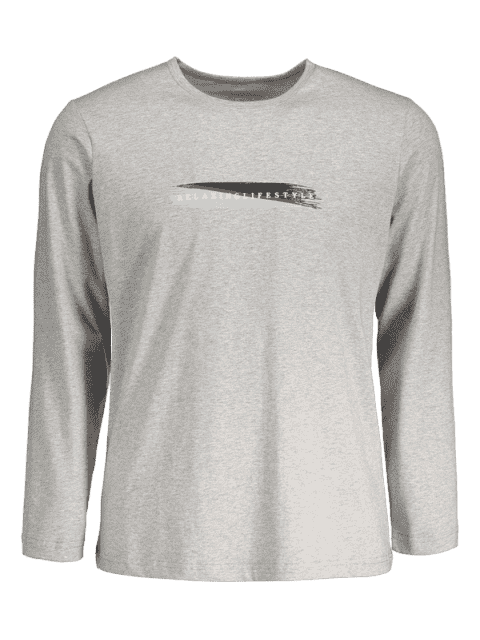 shops Graphic Marled Mens Long Sleeve T-shirt - GRAY XL Mobile