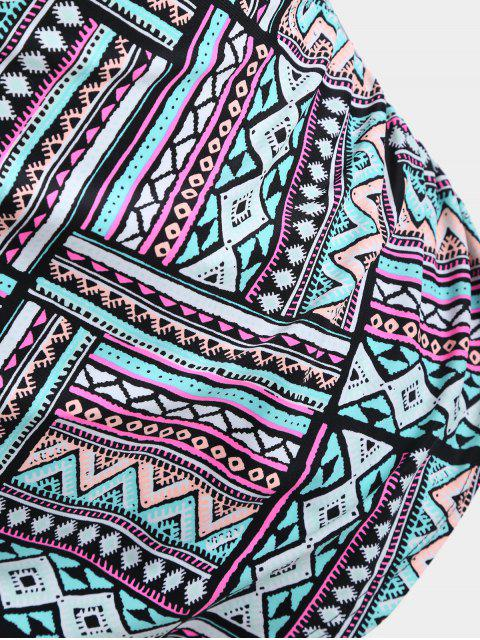 lady Overlay Tribe Print Plus Size Swimwear - COLORMIX XL Mobile