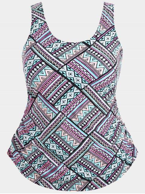 Superlay Tribe Print Plus Size Swimwear - Multicolore XL Mobile