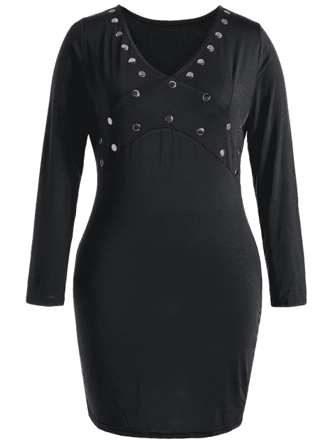 Robe Bodycon - Noir 3XL Mobile