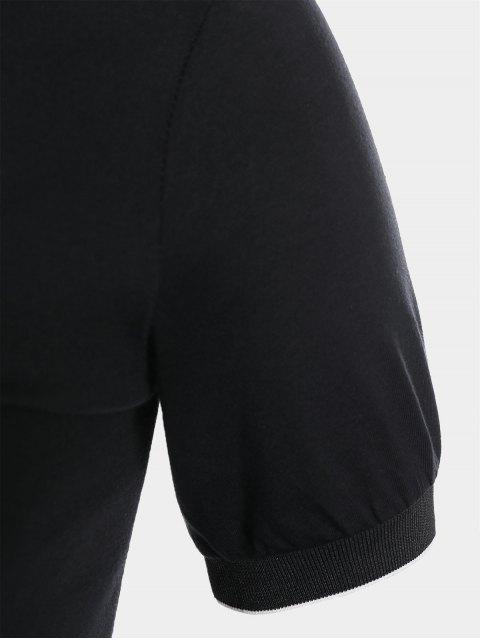 Robe polo à volants taille grande - Noir 2XL Mobile