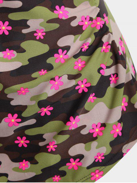 latest Double Layered Camo Plus Size Swimwear - CAMOUFLAGE 2XL Mobile