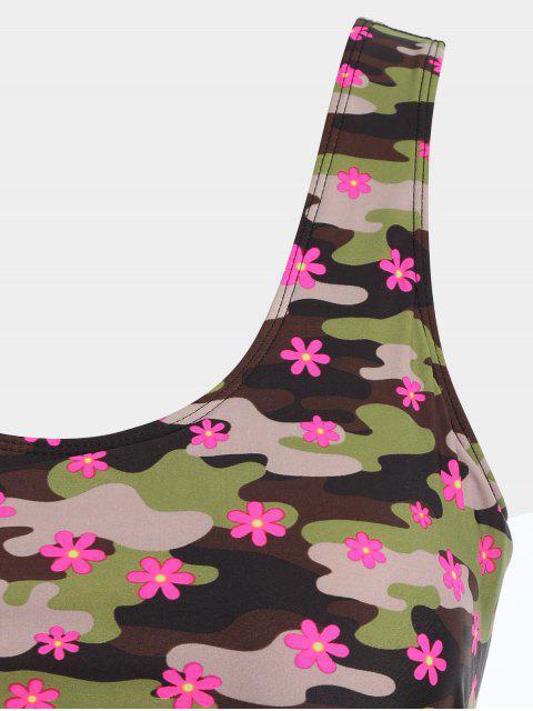 Maillots de bain à double couche Camo Plus Size - Camouflage XL Mobile