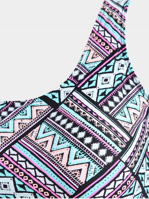 Superlay Tribe Print Plus Size Swimwear - Multicolore 2XL Mobile