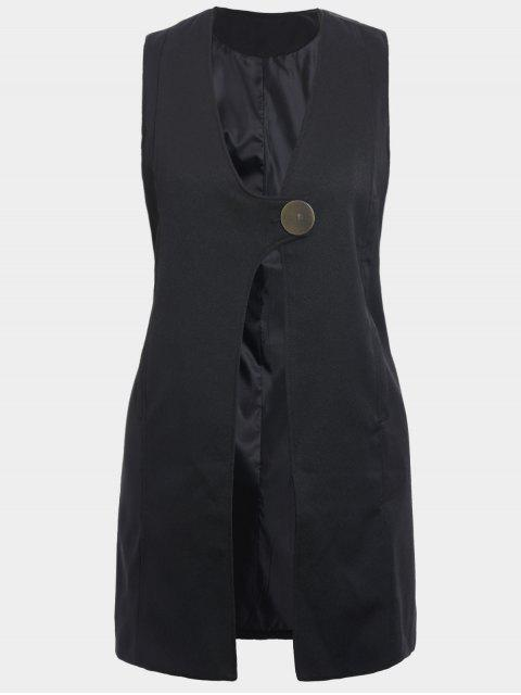 outfits Plus Size Longline Waistcoat - BLACK 2XL Mobile