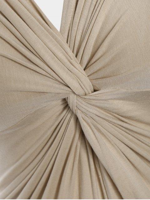 Robe Twist Plus Size - Abricot XL Mobile