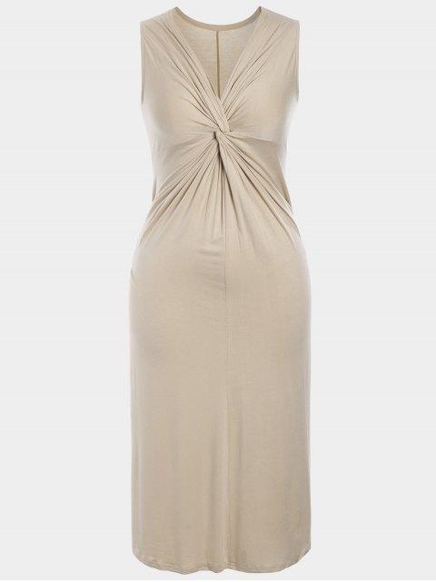 latest Twist Plus Size Dress - APRICOT XL Mobile
