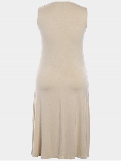 fashion Twist Plus Size Dress - APRICOT 4XL Mobile