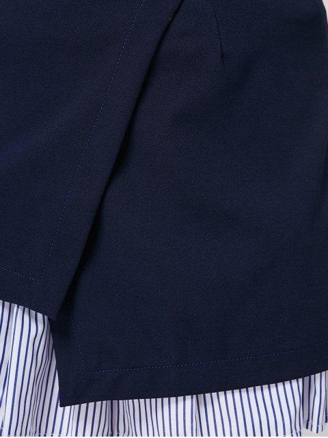 women Stripe Panel Plus Size Skirt - DEEP BLUE 5XL Mobile