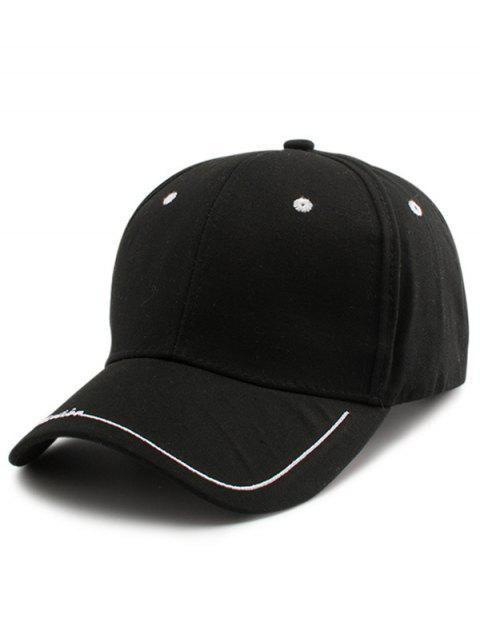 Line Letters Embellished Brim Baseball Hat - Noir  Mobile