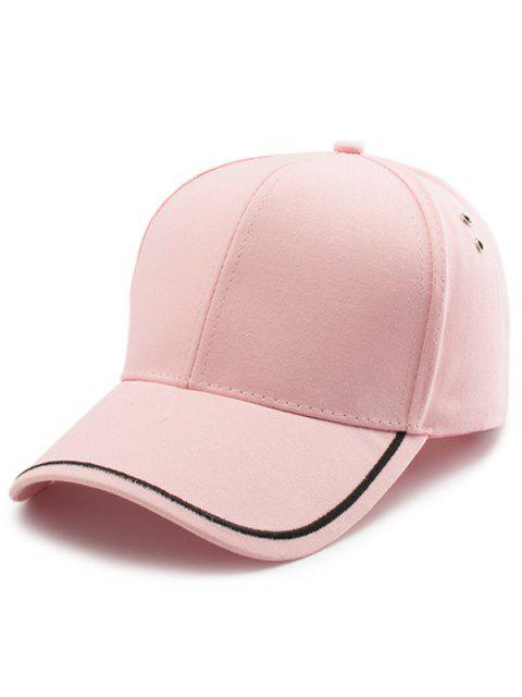 Plain Line Stickerei Baseball Mütze - Pink  Mobile