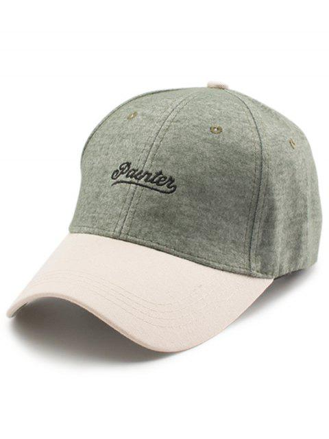 unique Two Tone Letters Embroidery Baseball Hat - GREEN  Mobile