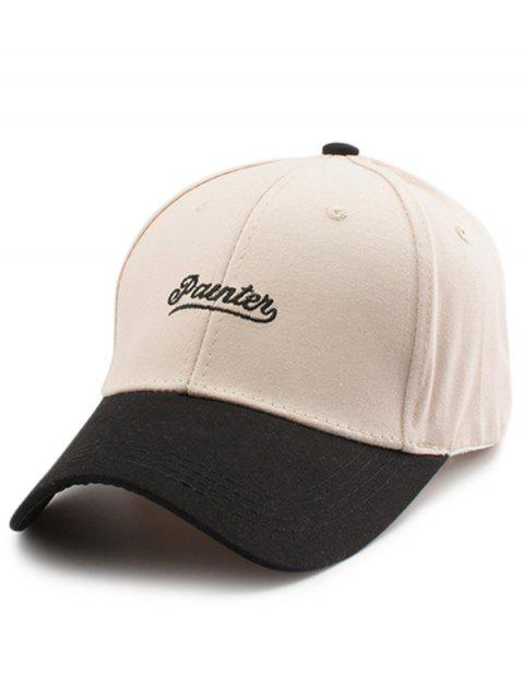 affordable Two Tone Letters Embroidery Baseball Hat - OFF-WHITE  Mobile