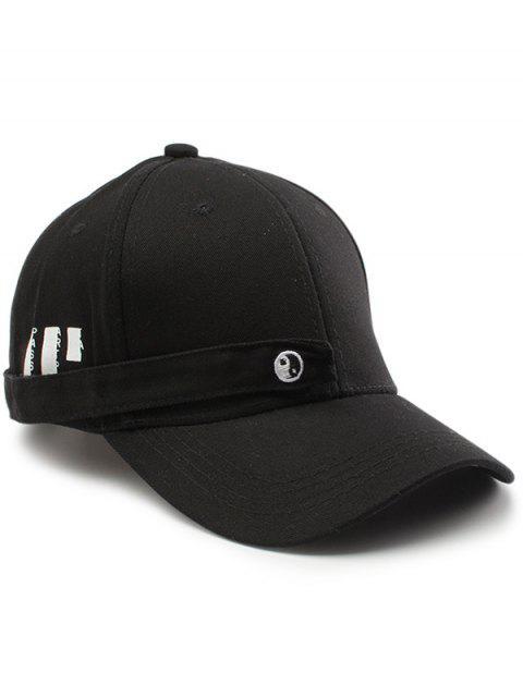 Rectángulo minúsculo ocho diagramas embellecieron el sombrero de béisbol - Negro  Mobile