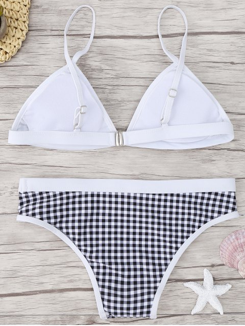 lady Checked Bikini Set - CHECKED M Mobile