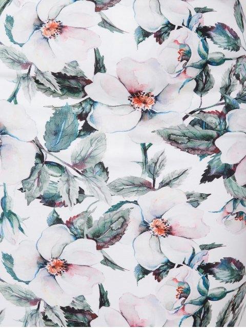 sale Plus Size Floral Pencil Skirt - MULTICOLOR 5XL Mobile