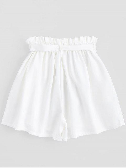 Shorts à taille haute - Blanc TAILLE MOYENNE Mobile