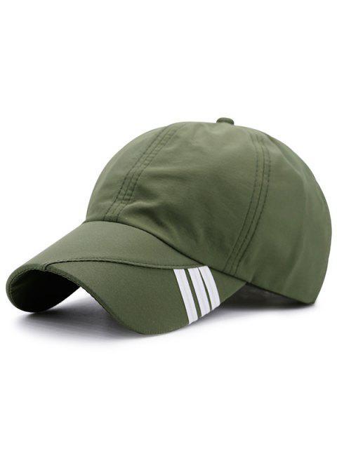 Diagonale Streifen Verschönerte Baseballmütze - Armeegrün  Mobile
