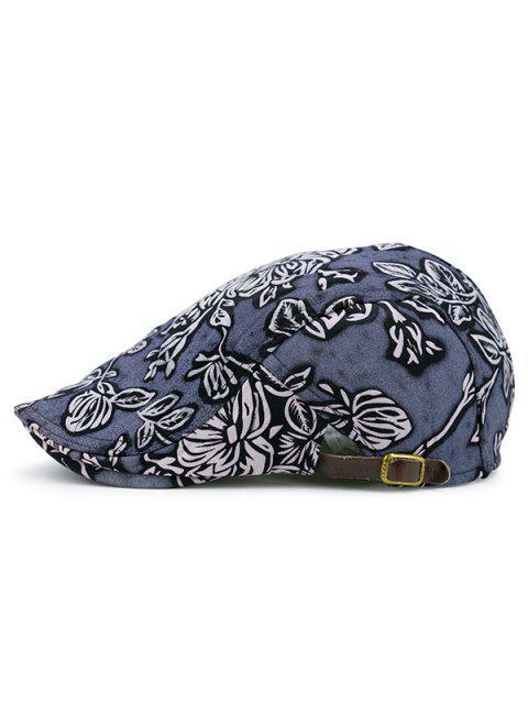Sombrero de periódico del modelo floral del vintage - Azul  Mobile
