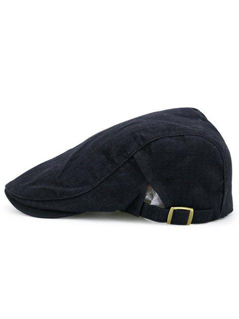 sale Checked Nostalgic Flat Hat - BLACK  Mobile