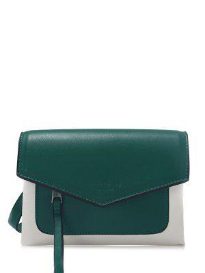Bolso De Crossbody Del Sobre Del Bloque Del Color - Verde