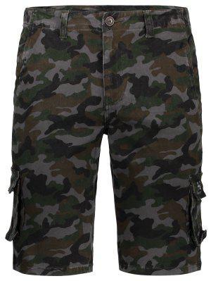 Hombres Camo Shorts De Carga - Camuflaje 38