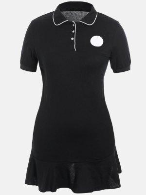 Plus Size Ruffle Polo Dress