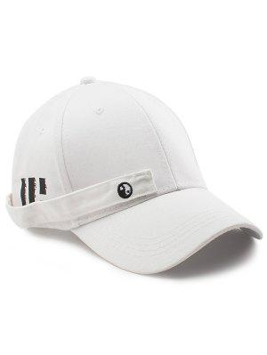 Tiny Rectangle Huit Diagramme Embellished Baseball Hat - Blanc