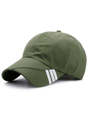 Diagonal Stripe Embellished Baseball Hat