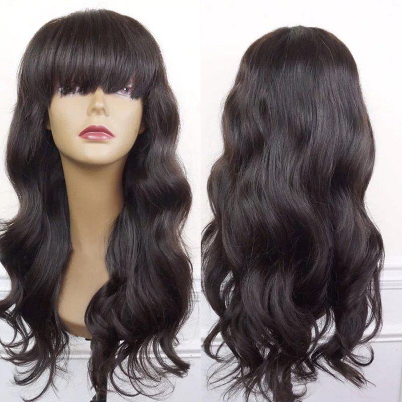Long Full Bang Body Wave Synthetic Wig 222864501
