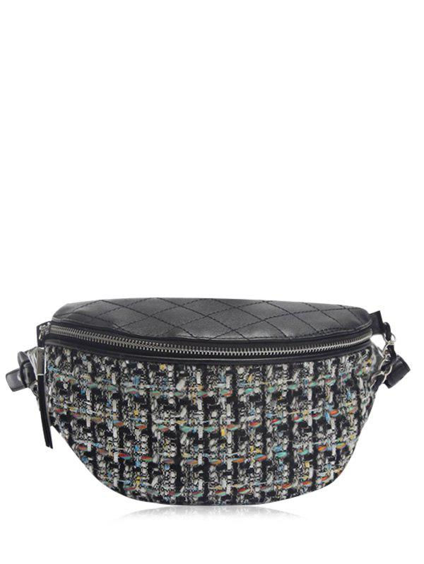 Quilted Plaid Pattern Chain Crossbody Bag