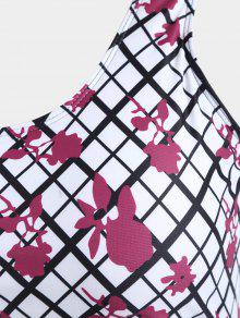Blanco o Ba Grid Print 2xl Grandes De Trajes De Overlay Tallas UwZAqzRan