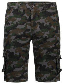 Hommes Camo Cargo Shorts - Camouflage 32