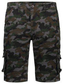 Men Camo Cargo Shorts - Camouflage 34