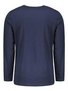 Manga Lou shirt Purp 250;reo Gr 2xl T Azul Larga Estados 225;fica De IAIUxwORq