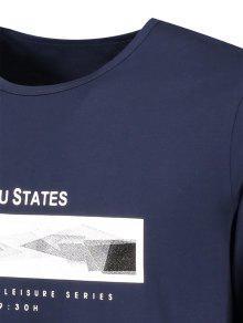 Gr 2xl shirt Purp De Lou 250;reo 225;fica T Manga Larga Estados Azul xaqPUqZ